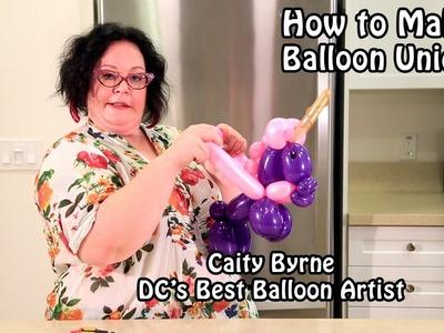 Caity's Balloon Unicorn ~ Balloon Animals Tutorial