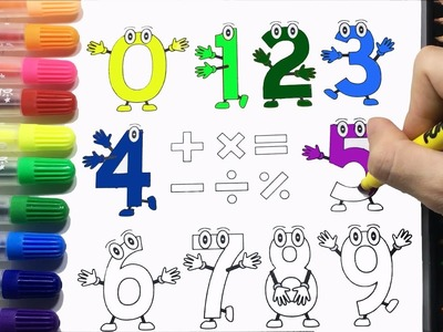 Coloring Pages For Kids With Funny Number Rainbow Color