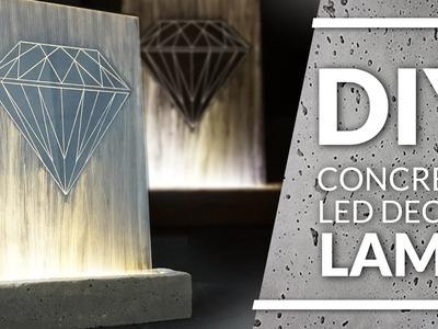 Concrete lamp DIY  diamond led decor