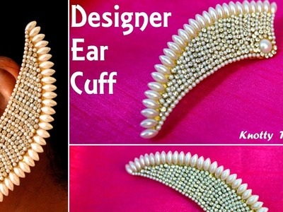 Designer Ear Cuffs made out of Paper | Bird Wing Design | Tutorial | Knotty Threadz !!