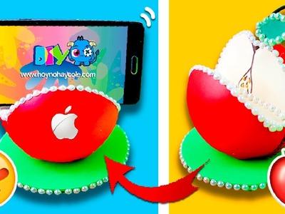 DIY Apple SMARTPHONE Stand * Soporte CASERO para Móvil en forma de MANZANA ✅  Top Tips & Tricks