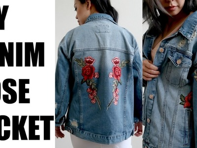 DIY DENIM JACKET ROSE PATCHES | MORE SEREIN
