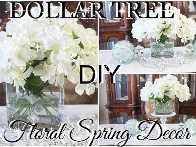 DIY DOLLAR TREE BLING SPRING FLORAL ARRANGMENT FEATURING BROOCHES FROM TOTALLY DAZZLED