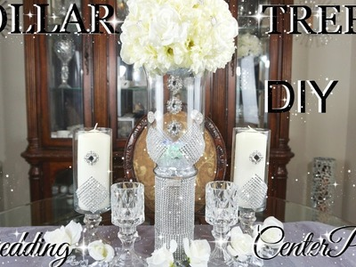 DIY DOLLAR TREE GLAMOROUS WEDDING CENTERPIECES WITH TOTALLY DAZZLED BLING GEMS | PETALISBLESS????