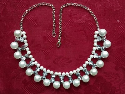 DIY Easy Elegant Necklace in less than 10 minutes. Beginners project