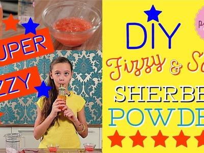 DIY Edible FIZZY POWDER | Pink Pie Factory | Lara-Marie | How to make  SOUR SHERBET POWDER