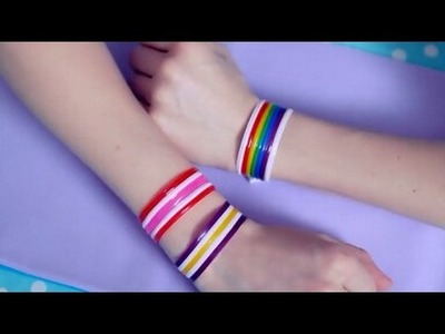 DIY. How to make bracelet from drinking straw. life hack from drinking straw. part-1(SaksheeNamdeo)
