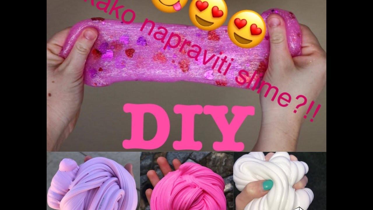 Diy - HOW TO MAKE SLIME! (Kako napraviti slime)