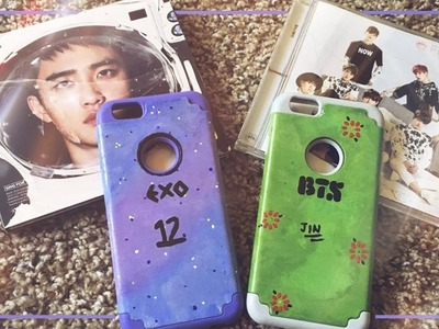 DIY Kpop Phone Case (EXO and BTS edition)