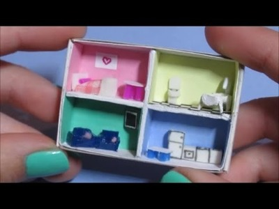 DIY ~ Miniature dollhouse in a matchbox! (NO CLAY)