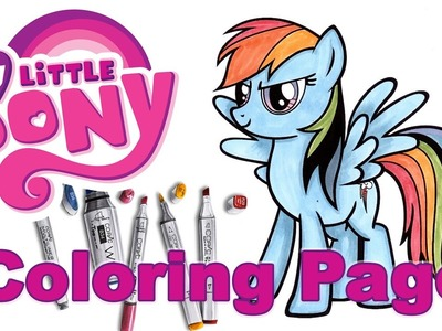 DIY My Little Pony Coloring Page ♥ Coloring Rainbow Dash
