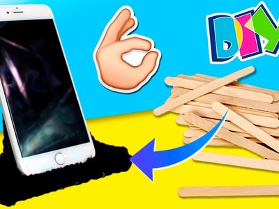 DIY Smartphone STAND with STICKS * Soporte CASERO para MÓVIL con PALITOS ✅  Top Tips