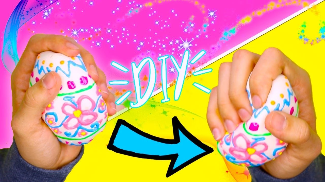 DIY SQUISHY ! | MAKE YOUR OWN SQUISHY | SQUISHY EASTER EGG