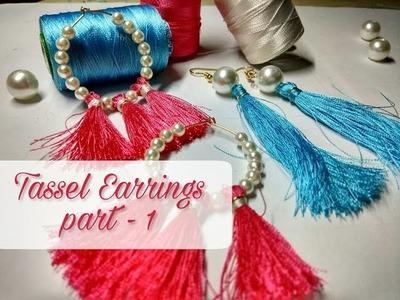 DIY Tassel Earrings ( Part 1 )