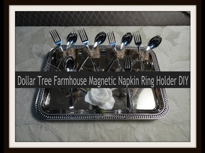 Dollar Tree Farmhouse Magnetic Napkin Ring Holder DIY