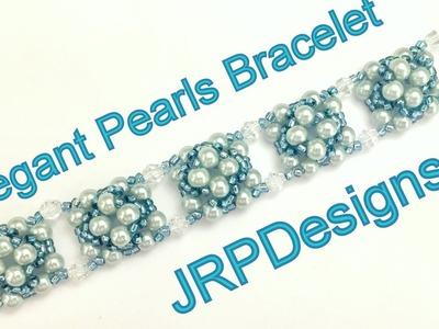 Elegant Pearls Bracelet--Beginner to intermediate tutorial