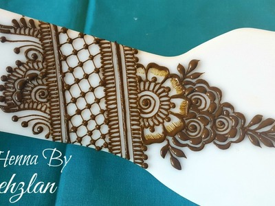 Henna By Shehzlan | How To Henna Tutorial #58 | Netting & Gulf Style