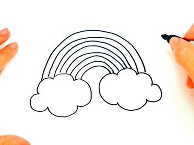 How to draw a Rainbow   Rainbow Easy Draw Tutorial