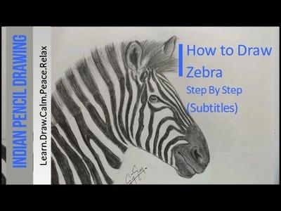 How to Draw a Zebra - Step by step tutorial