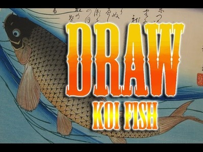 How to draw Koi fish japanese tattoo tutorial