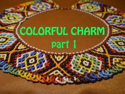 How to make this COLORFUL CHARM NECKLACE! Tutorial in English!