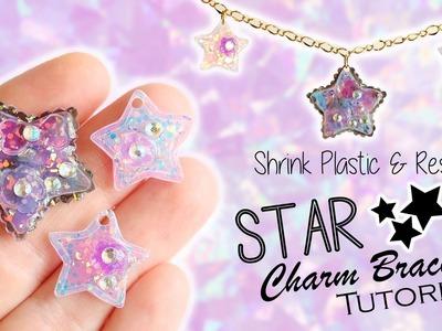 Kawaii Star Charm Bracelet│Shrink Plastic & UV Resin Tutorial