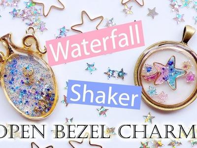 Kawaii UV Resin Tutorial: Waterfall & Shaker Open Bezel Charms (2 Different Techniques)