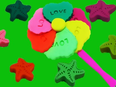 Learn color with Play Doh rainbow candy -  Creative Fun for Kids