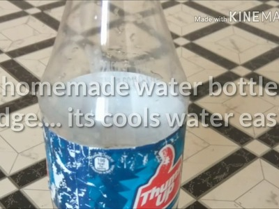 Magic bottle. DIY homemade easy water cooler using plastic bottle and newspaper.