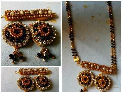 Mangalsutra locket - How to make locket for mangalsutra | jewellery tutorial