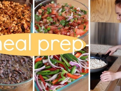 Meal Prep With Me. DIY Chipotle (cheap. easy. vegan.)