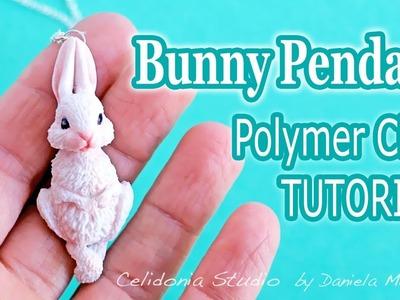 Miniature Bunny Pendant Polymer Clay Tutorial