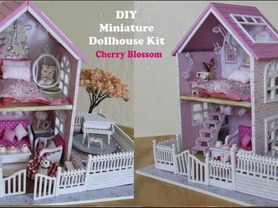 Miniature Dollhouse DIY Pink Cherry Blossom Doll House Kit (Part 1)