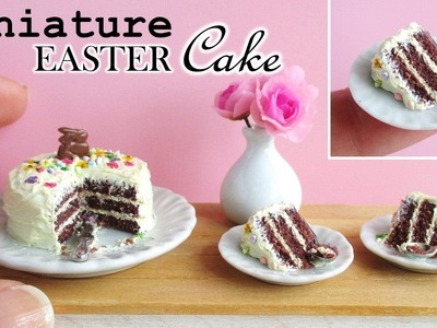 Miniature Polymer Clay Easter Cake Tutorial. Collab with SugarCharmShopGourmet || Maive Ferrando
