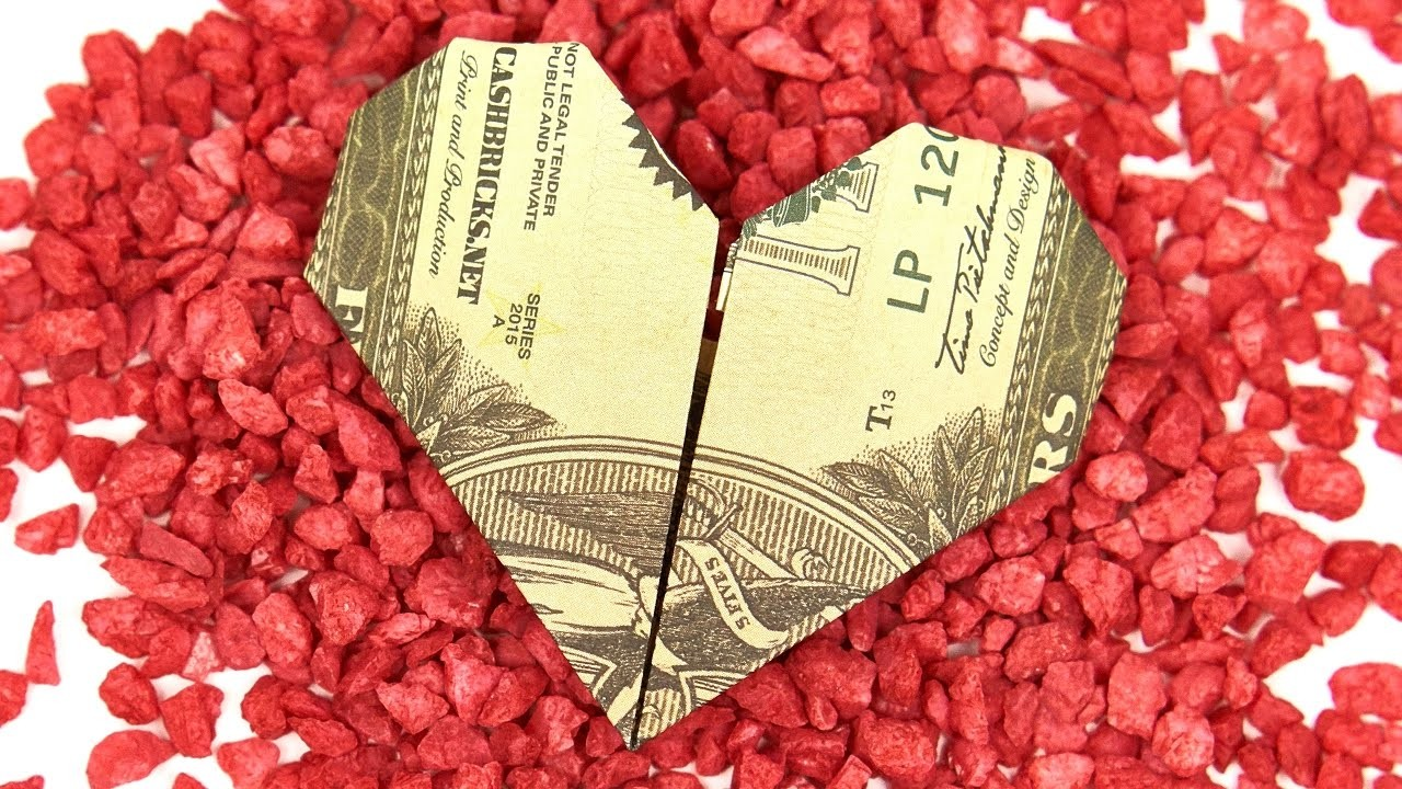 Money origami heart with quarter images craft decoration ideas heart money origami heart folding easy instructions in english heart money origami heart folding easy instructions jeuxipadfo Images