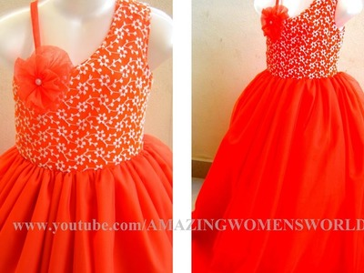 ONE STRAP ONE SHOULDER  | BALL GOWN | CUTTING & SEWING | DIY|  || AWW # 271||