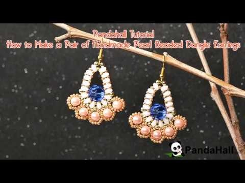 Pandahall Tutorial   How to Make a Pair of Handmade Pearl Beaded Dangle Earrings