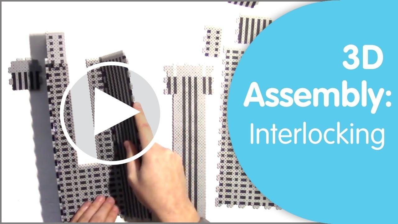 Perler 3D Assembly: Interlocking