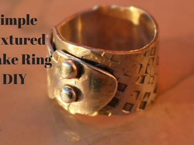 Rings how to make textured Sterling Silver snake ring Tutorial