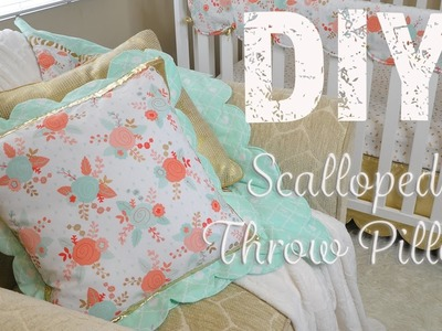 Scalloped Throw Pillow Cover- Sewing Tutorial