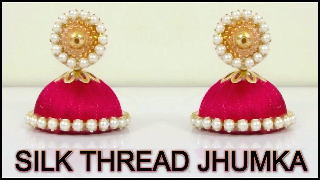 Silk Thread Earring Making - Silk Thread Jewelry Making Tutorial