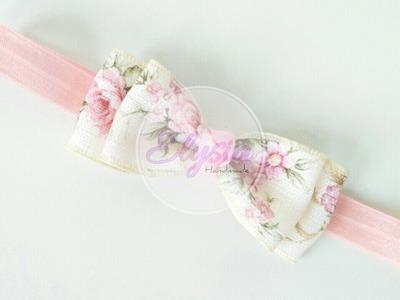 Simple Bowtie Headband With Sabby Ribbon | DIY by Elysia Handmade
