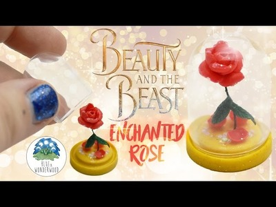 The Enchanted Rose from The Beauty and the Beast - Polymer Clay Tutorial - Blue in Wonderwood
