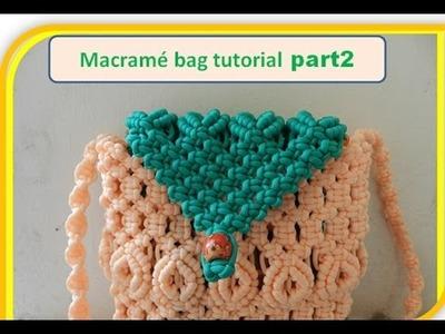 Trendy macrame flip purse with belt tutorial part 2