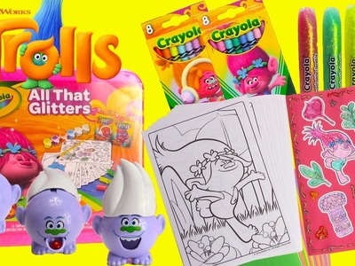 Trolls Movie Poppy Coloring Pages Crayola DIY Stickers and Surprises