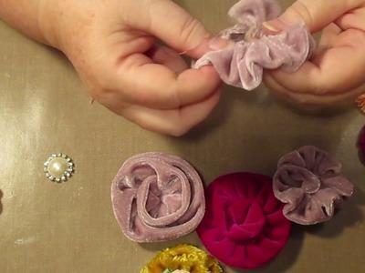 Tutorial making velvet Flowers