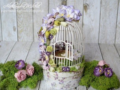 When spring awakes blossoming birdcage tutorial for Wild Orchid Crafts