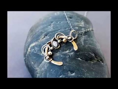 Wire Wrapping Tutorial - Mini Moon Pendant Sterling silver moonstone