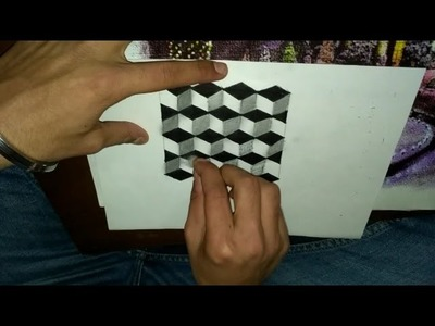 3D Cube Illusion Drawing Easy Way For Kids BY R.S Creative
