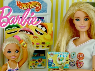 Barbie and Chelsea go Shopping at The Toy Store - DIY Miniature Play Doh for Dolls - Titi Toys